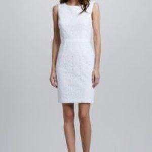 Trina Turk Crochet Lace White Dress Sz 10